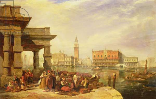 Eastern Merchants at the Entrance to the Grand Canal, Venice