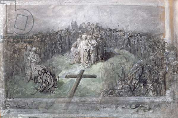 The Crucifixion (w/c and gouache on paper)