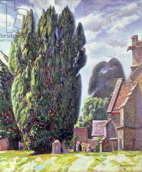 Old Church, Compton Chamberlayne (oil on canvas)