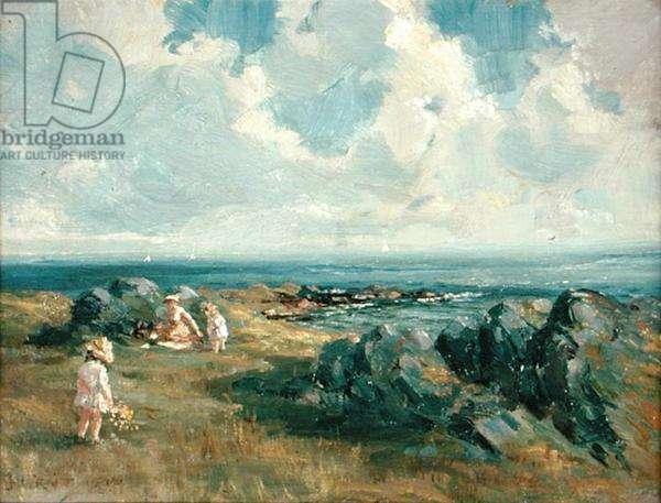 Coastal Picnic, 1915 (oil on board)