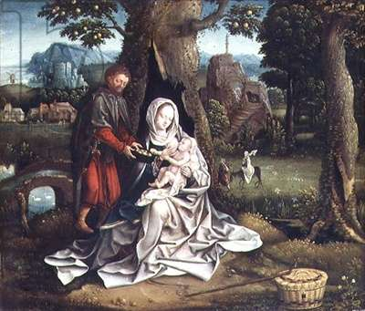 T31505 The Rest on the Flight into Egypt (panel)