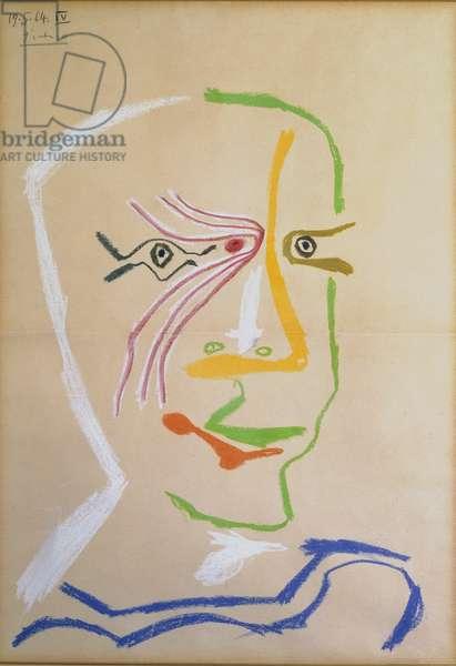 T33461 Head of a Man, 1964 (crayon)