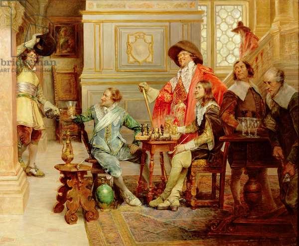 The Arrival of D'Artagnan (oil on canvas)