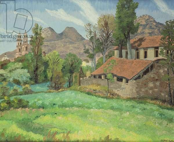Quinta, Catalina, Morelia, Mexico, 1939 (oil on canvas)