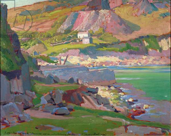 T35227 Lamorna Cove, Cornwall, 1939 (oil on board)