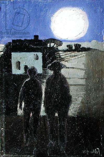 Landscape by Moonlight, 1975 (oil on board)