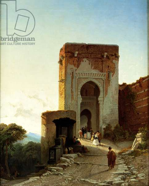 Porte de Justice, Alhambra, Granada (oil on canvas)