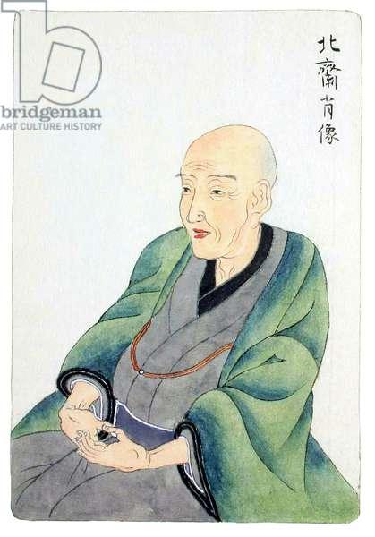 Japan: Portrait of artist and ukiyo-e master Katsushika Hokusai (1760-1849)