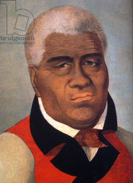 USA: King Kamehameha I, ruler of Hawaii (r. 1758-1819).