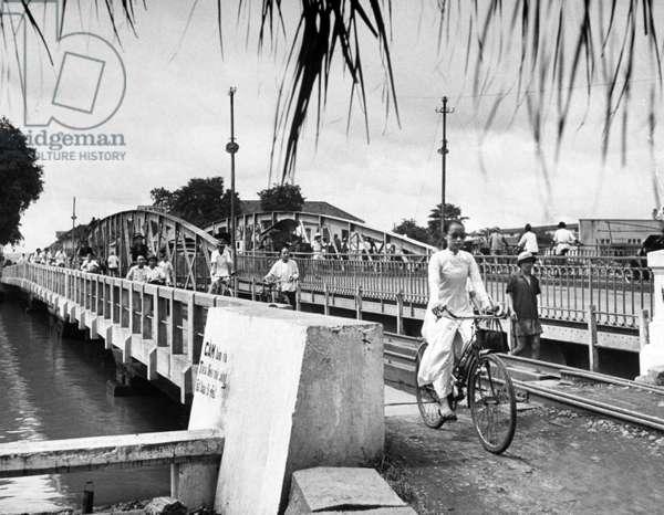 Vietnam: Cầu Sắt Đa Kao, Graham Greene's 'Dakow Bridge' in Saigon (now Ho Chi Minh City), 1948