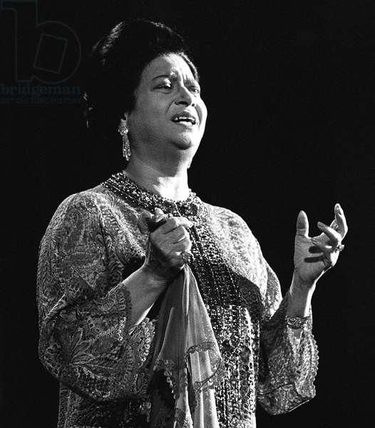 Egypt: Umm Kulthum, Egyptian actress and singer, 1898-1975