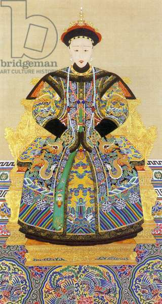 China: Empress Xiao Quan Cheng (1808–1840), third Qing Dynasty Empress Consort of the Daoguang Emperor (1782–1850).