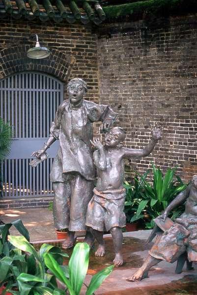 China: Sculpture from a Lu Xun novel, Chen Family Temple (Chenjia Si), Guangzhou, Guangdong Province