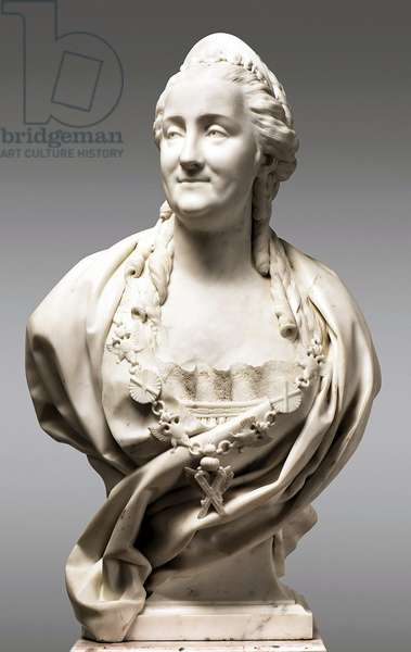 Russia: Catherine II or 'Catherine the Great' (1729 - 1796), r. 1762 -1796, bust in marble, Jean-Antoine Houdon (French 1741-1828), 1773