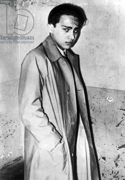 France / Germany: Herschel Grynszpan just after his arrest, 7 November 1938