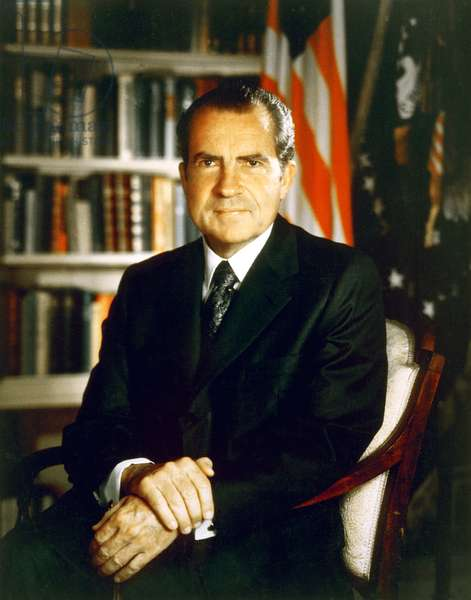 USA: Richard Milhous Nixon (January 9, 1913 - April 22, 1994) was the 37th President of the United States, serving from 1969 to 1974