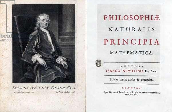 England / UK: Title page of Sir Isaac Newton's Philosophiæ Naturalis Principia Mathematica or 'Mathematical Principles of Natural Philosophy', 3rd edition, London, 1726