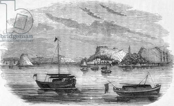 China: A view of Chin-keang-foo and Golden Island, Yangzi River, First Opium War (1839-1942)
