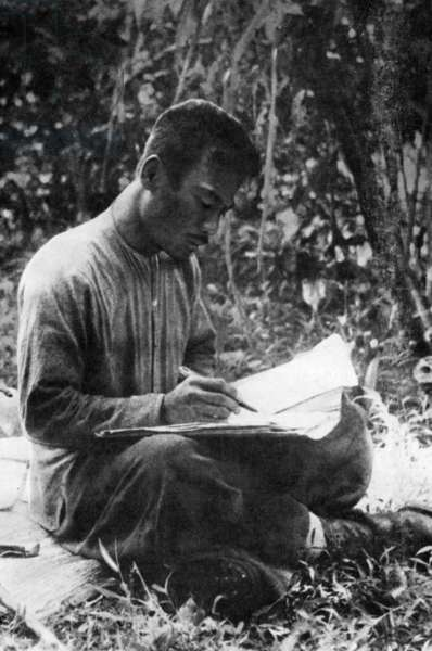 Laos: Prince Souphanouvong (1909-1995). Laos' 'Red Prince', pro-communist supporter of Ho Chi Minh. Here in the field during the liberation struggle when he fought with the Pathet Lao. Later he was Presiident of the Lao People's Democratic Republic from 1