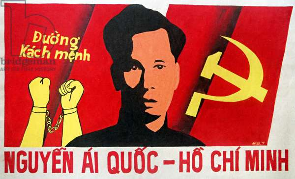 Vietnam: Communist propaganda poster - 'The Road to Revolution - Nguyen Ai Quoc - Ho Chi Minh'