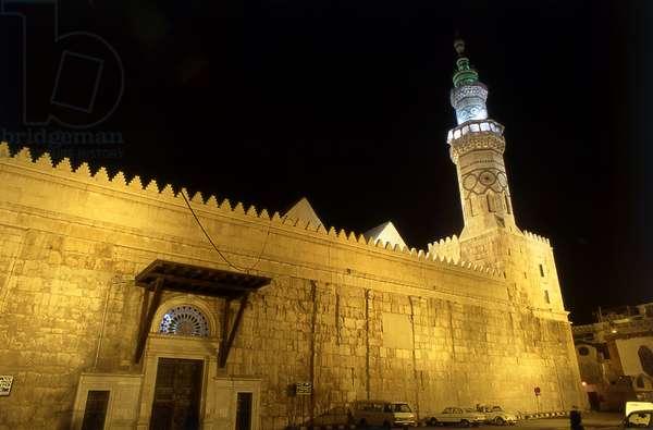 Syria: Western Minaret at night, Umayyad Mosque, Damascus