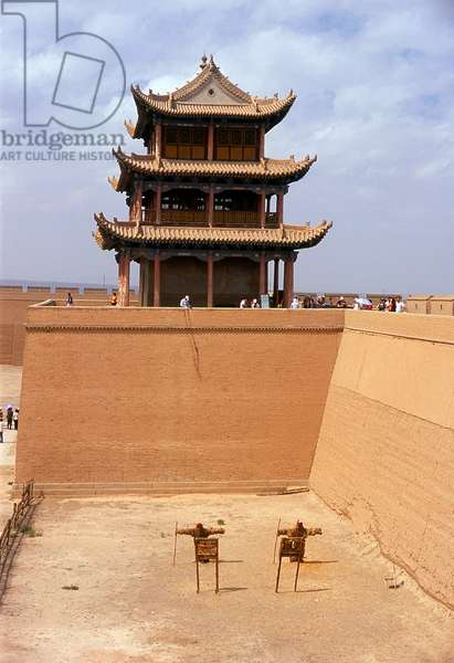 China: Jiayuguan Men (Gate of Sighs), Jiayuguan Fort, Jiayuguan, Gansu