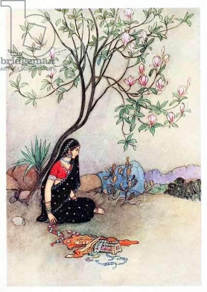 UK: 'The Field of Bones','Folk Tales of Bengal', Warwick Goble (1862-1943), 1912
