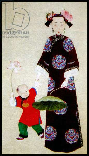 China: Empress Xiao Quan Cheng (1808–1840), third Qing Dynasty Empress Consort of the Daoguang Emperor (1782–1850)