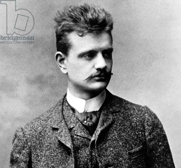 Finland: Jean Sibelius (1865 - 1957), composer and violinist, in Vienna during the 1880s