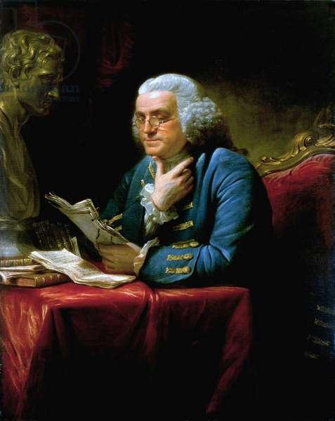 Benjamin Franklin, 1767 (oil on canvas)