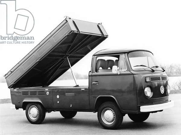 Germany: Volkswagen Bay Window Tipper commercial vehicle, c. 1960