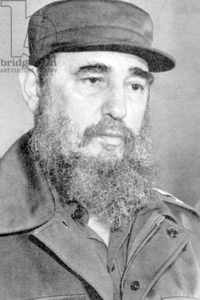 Cuba: Fidel Castro in pensive mood, c. 1962