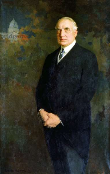 USA: Warren G. Harding (1865 – 1923) was the 29th President of the United States, serving from 1921 to 1923. Oil on canvas, Edmund Hodgson Smart (1873-1942), 1922