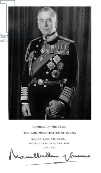 United Kingdom: Admiral of the Fleet Louis Mountbatten, 1st Earl Mountbatten of Burma (25 June 1900 - 27 August 1979)