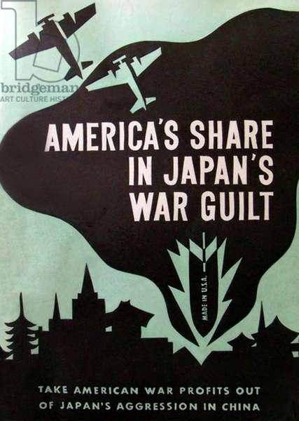 USA / Japan: 'America's Share in Japan's War Guilt'. Cover of a report issued by the American Committee for Non-Participation in Japanese Aggression, 1938