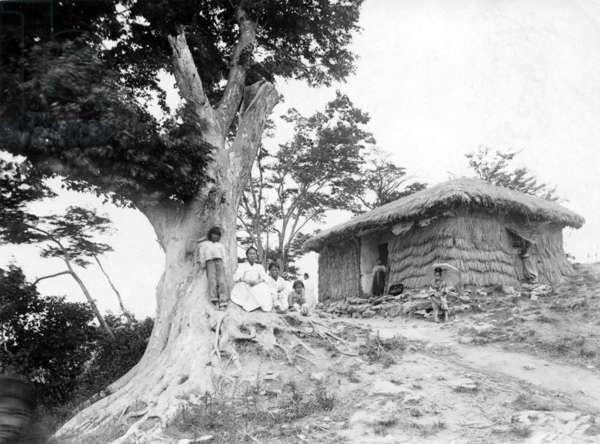Korea: House on a hill above Haeju, northern Korea, early 20th century