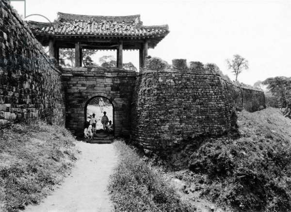 Korea: Old Pyongyang, the 'Seven Star Gate', early 20th century