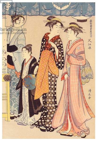 Japan: 'Enjoying the Evening'. Torii Kiyonaga (1752-1815), 1782