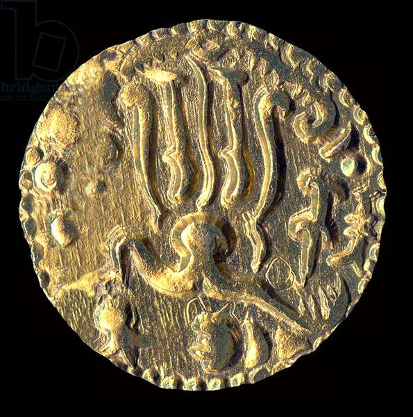 Sri Lanka: Gold Kahavanu coin, 'Sri Lanka Vibhu' or 'Fortunate Lord of Sri Lanka', c. 11th century CE