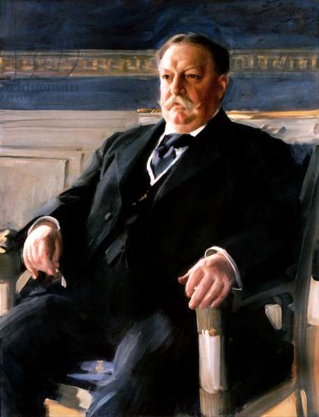 USA: William Howard Taft (1857 – 1930) was the 27th President of the United States, serving from 1909 to 1913. Oil on canvas, Anders Zom (1860 -1920), 1911