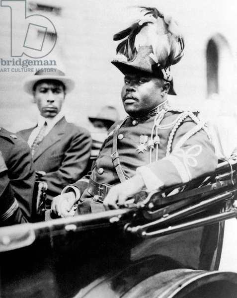 Jamaica: Marcus Garvey (1887-1940), 'Provisional President of Africa' with Noble Drew Ali, founder of the Moorish Science Temple of America, Annual Convention of the Negro Peoples of the World, Harlem, 1922