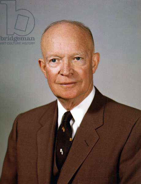 USA: Dwight Eisenhower (1890-1969), 34th President of the United States (1953-1961), White House photographer, 13 February 1959