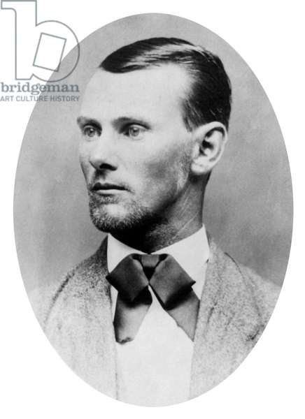 USA: Portrait of Jesse James (1847 - 1882), outlaw and bank robber, 1882