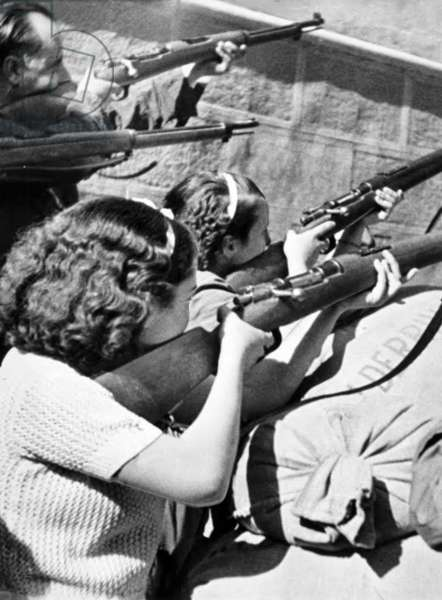 Spain: Republican women fighters at the Siege of the Alcazar, Spanish Civil War (1936-1939), 1936