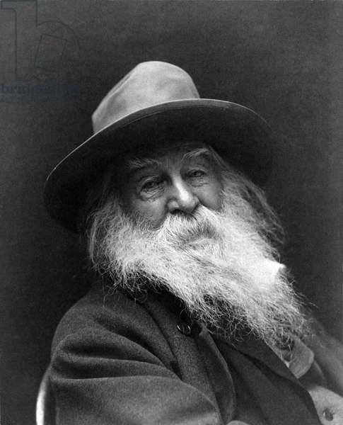 USA: Walter 'Walt' Whitman, American poet, essayist and journalist (1819-1892), New York, George C Cox, 1887