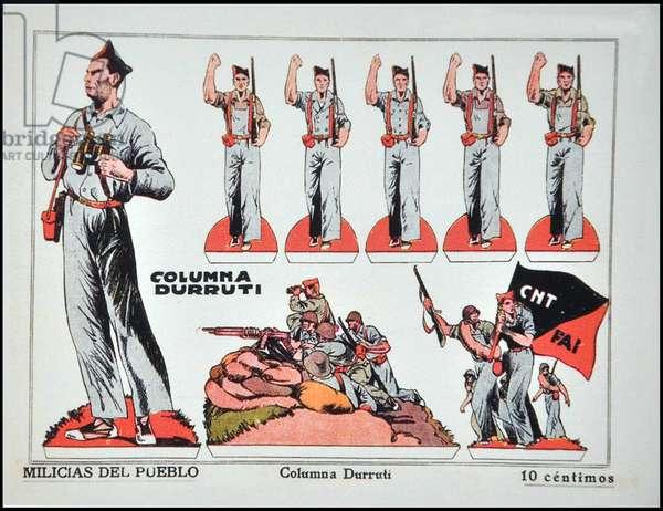 Spain: Columna Durruti - Militias of the People, Spanish Civil War (1936-1939), c. 1936