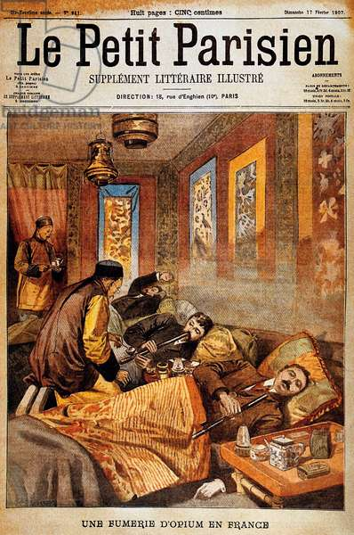 France / China: An opium den in France, as depicted by 'Le Petit Parisien', 1907