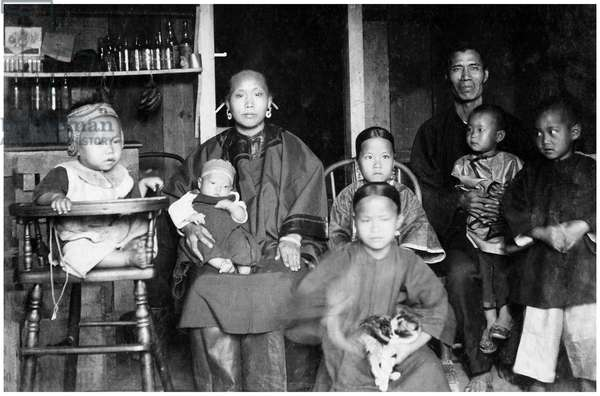 USA: A Chinese migrant family in Honolulu, Hawaii, 1893 (photo)