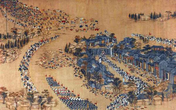 China: Qing forces ambush the Taiping Army at Wangjiajkou, 1854  (Taiping Rebellion, 1850-1864)