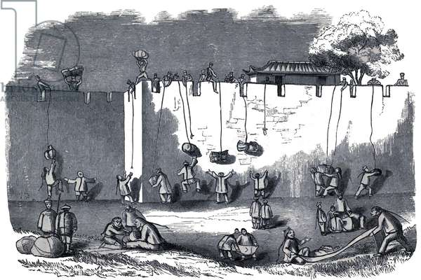 CXhina: 'Sale of Plunder at Shanghai', First Opium War, 1839-1842